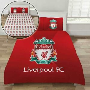 Liverpool FC Double Bedding Set Two-sided Duvet Cover Gradient Crest Football