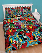 DOUBLE BED STRIKE MARVEL COMIC BOOK THOR IRON MAN SPIDERMAN CAPTAIN AMERICA