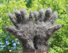 100% Longhair goat fluff Gloves hand knitting Furry Fetish Mohair  wool L-XL Men