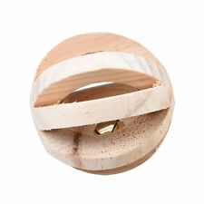 Natural Wood Bell Hamster Rat Gerbil Ball Roller Chew Exercise Play Running Toys