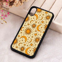 Sun Moon Stars Phone Case Hippie Celestial Silicone iPhone X 11 12 Pro Cover