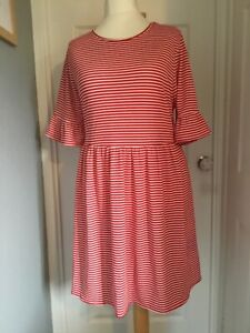 Yours red & white striped Tea dress Size 24 new