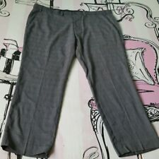 Mens Size 42 S Tailor & Cutter Slim Fit Grey Check Trousers Work Office W42 L29