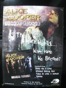 Vintage 2000 Alice Cooper Brutal Planet Promotional Poster