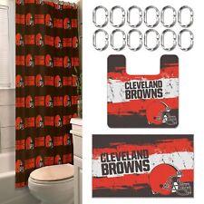 Cleveland Browns NFL 15 Piece Rug Shower Curtain Bath Set