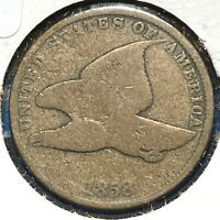 1858 1C Flying Eagle Cent, Small Letters (59816)