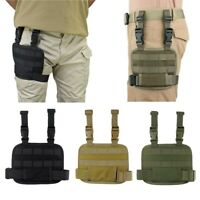 Tactical Molle Drop Leg Platform Thigh Rig with Adjustable Belt with Thigh Strap