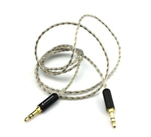 5-core 4N silver 3.5mm male to male Audio cable Record cable Car AUX cord