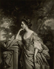 1769, stunning mezzotint, Lady BRIDGES, daughter married brother of JANE AUSTEN