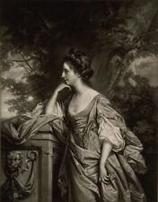 1769, stunning mezzotint, Lady BRIDGES, daughter married brother of JANE AUSTEN