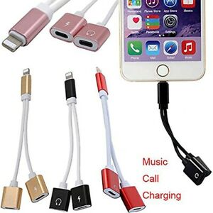 Audio Charging Splitter Cable Adapter Headphone Jack For iPhone 7 8 X 11 12