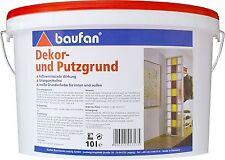 baufan 10l Dekor- und Putzgrund für Putze & Farben Grundierung Haftgrund Putz