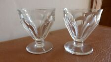 "BACCARAT. 2 verres en cristal.7,5 cm .modèle ""Talleyrand""   2 Crystal glass ...."