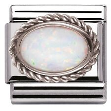 NEW NOMINATION CLASSIC CHARM GENUINE WHITE OPAL SET IN STERLING SILVER