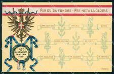 Militari Reggimentali 41º Reggimento Fanteria cartolina XF4906