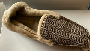 Coolers Zig Zag Print Brown Side Slippers • Size 11/12 • BNWT