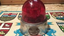 Federal Signal Junior Beacon Ray Model 15 RED GLASS Lens police LIGHT