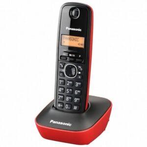 Telefono Fijo Inalambrico sin Cable Digital Panasonic Dect KX-TG1611 SPR Rojo