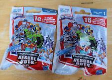 Lot of 2 TRANSFORMERS Rescue Bots Series 1 Mini Figure 2018 Playskool Heroes