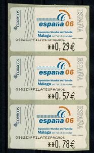 Etiquetas adhesivas ATMs Exposición Mundial filatelia España 2006 Malaga Ref.02