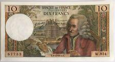 10 FRANCS VOLTAIRE (8.11.1973) Billet de banque français (SUP) N°67733