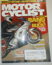 Motor Cyclist Magazine Honda CBR1000RR March 2006 020415R