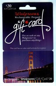 WALGREENS Golden Gate Bridge 2005 Gift Card ( $0 - NO VALUE )