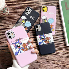 For iPhone 11 Max XR X 7 8 SE 2020 Cartoon Tom And Jerry TPU Phone Case Cover