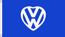 VW FLAG 5' x 3' I Love my VW Car Van Garage Show Festival Flags