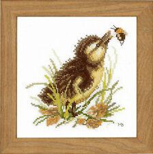 Lanarte Cross Stitch Kit - Duckling and Bumble Bee