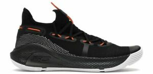 NEW Under Armour Curry 6 Basketball Shoes 3020612-003 Men's Size 12 Black/Orange