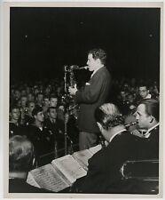 Jazz Saxophonist Charlie Barnet in concert orig 1950s 8x10 Bert Parry photograph
