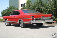 1967 Ford Galaxie 500 Coupe, RED, Refrigerator Magnet, 40 MIL