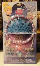 25pc DISNEY PRINCESS Dress Up Set CINDERELLA Tiara+Sticker Earings+Nails+Ring