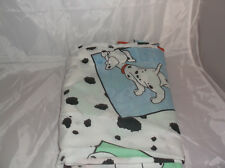 DISNEY 101 Dalmations Twin Size Flat Bed Sheet Fabric Material Bedding Quiltback