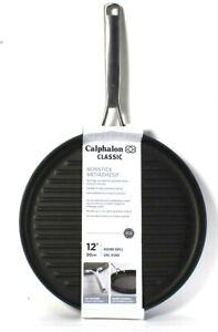 "Calphalon Classic Nonstick Hard Anodized Aluminum Construction 12"" Round Grill"