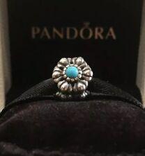 Authentic Pandora Birthday Bloom December Turquoise Sterling Silve Pandora Charm
