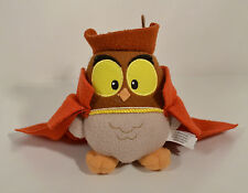 "Owl w/ Prince Phillip Cape 5.5"" Plush Action Figure Disney Store Sleeping Beauty"