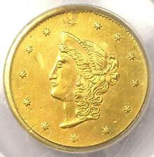 1870 Liberty Round California Gold Dollar Coin $1 BG-1205. PCGS Genuine - AU/UNC