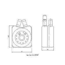 Ölkühler, Motoröl NRF 31304