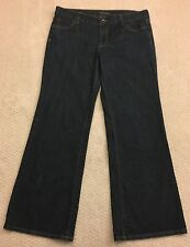 Banana Republic Flare Mid Rise Womens Jeans Size 12 Distressed Stretch