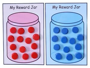 Children's Re-usable Reward Jar Chart - Behaviour Chore Reward System MAGNETIC