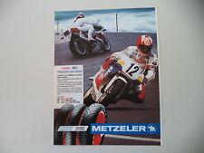 advertising Pubblicità 1991 METZELER PNEUMATICI