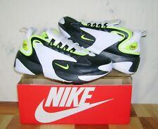 Men's NIKE ZOOM AIR 2K BLACK VOLT Sz 8 Athletic Shoes AO0269-004 FAST SHIP!