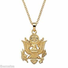 "ARMY 14K GOLD EGA PENDANT GP NECKLACE WITH 20"" CHAIN"