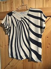 Cotton Formal Singlepack Striped Tops & Shirts for Women