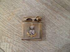 *** Ancien Briquet essence DRAGO insigne Bataillon Thai * Indochine War lighter
