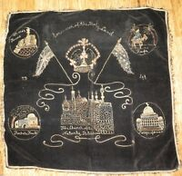 .EXTREMELY NICE / LARGE WW2 1941 EMBROIDED SOUVENIR OF THE HOLY LAND.