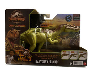 New! Jurassic World ROAR ATTACK BARYONYX - 3 Levels of Sounds with Roaring Mouth