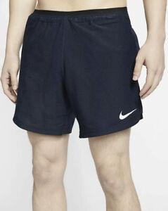 Nike Men's Pro Flex Rep Hybrid Training Shorts Obsidian Blue Sz Small CJ4997-451